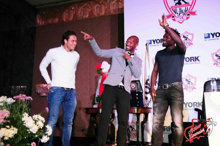 """شاهد بالصور الحصرية : رقصة شيكابالا و رزاق فى المؤتمر الصحفى ل""""يورك"""""""