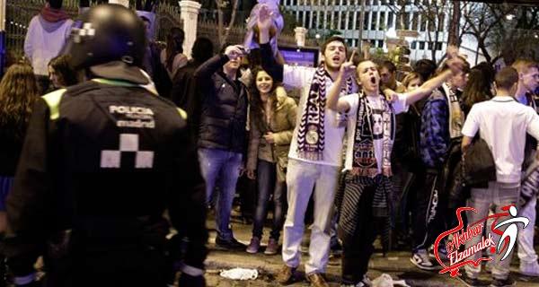 مظاهرات صاخبة بمدريد احتفالاً بفوز الريال على البارسا