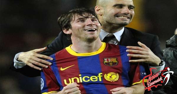 ميسي حزين على رحيل جوارديولا من برشلونة