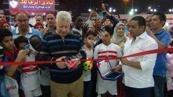 خاص بالصور والفيديو | مرتضى منصور يفتتح المبنى الاجتماعي والأعضاء يوجهون رساله شكر له