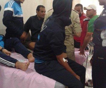 عاجل | نقل لاعبى النصر والجهاز الفنى للمستشفى