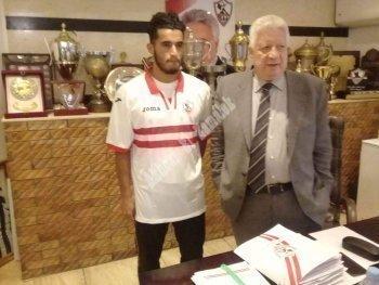 اخبار الزمالك بالصور  تكشف اول تعليق لمحمد حسن بعد الانضمام رسميا  واول ظهور بالقميص الابيض
