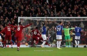 بالفيديو ....ليفربول يفوز على ايفرتون فى الوقت القاتل