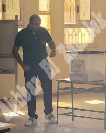 بالصور .  العتال يدلى بصوته في الاستفتاء على التعديلات الدستورية