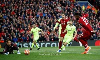 ليفربول الانجليزي يضع قدم فى النهائي بالتقدم على برشلونة