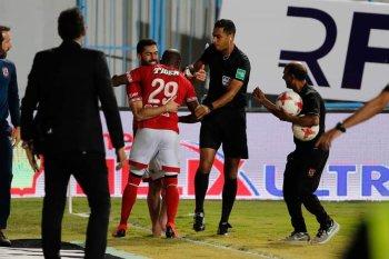 """محمد """"مش """" امين عمر  كالعادة اهدى الاهلى 3 نقاط بعد رقم قياسي من الوقت بدل الضائع"""