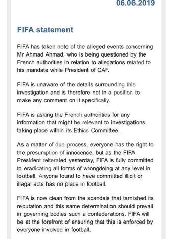 بيان عاجل من الفيفا بعد القبض على أحمد أحمد بفرنسا