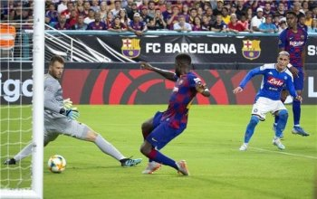 فيديو | برشلونة يحقق فوزا صعبًا على نابولي في جولة أمريكا