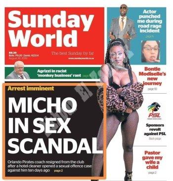 بالصورة ميتشو متهم بفضيحة جنسية مع عاملة نظافة فى جنوب افريقيا تعرف على التفاصيل
