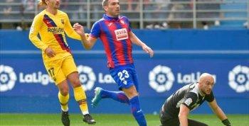 فيديو | برشلونة يعود لصدارة الدوري الإسباني بثلاثية في إيبار