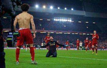 شاهد مو صلاح يسجل هدف عالمى فى فوز ليفربول على مانشستر يونايتد