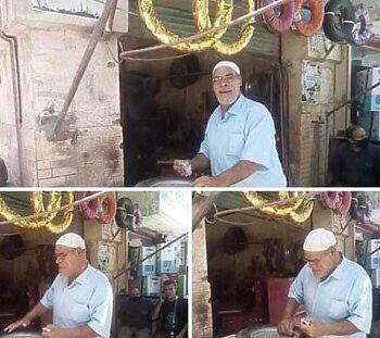 حسين أبو حجاج يقلب الفيس بوك بعد إعتزال الفن والعودة لمحل الكاوتش بسبب كورونا