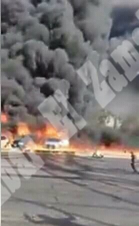 وزارة الصحة تكشف عدد المصابين فى حريق طريق الإسماعيلية الصحراوي