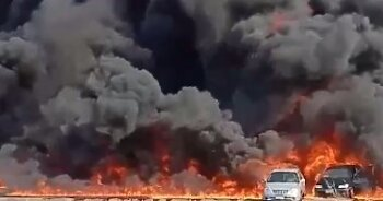 تعرف على هدية وزارة البترول لأصحاب السيارات المتفحمة فى حريق طريق الإسماعيلية الصحراوي