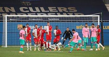 ميسي يسجل فى فوز برشلونة بعد العودة   .بيراميدز يستعيد ذاكرة الانتصارات وفوز سموحة