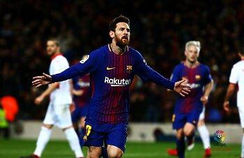 ميسى يسجل هدف رووعة فى فوز برشلونة ..  وتألق  لويس سواريز  مع انليتكو مدريد..وابداع صلاح