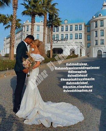 بالصور حفل زفاف محمد ابوجبل على سمارة ونكشف جنسية العروس .. تعرف على موقف الحارس من اللحاق بلقاء تونجيث