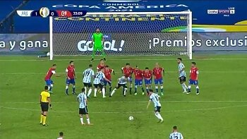 ميسي  يسجل هدف روووعة فى سقوط الارجنتين  امام تشيلي بكوبا أمريكا .وصدمة اسبانيا  امام السويد