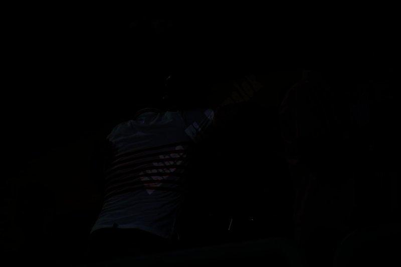 عمرو زكي في مباراة تتويج الزمالك بالدرع (تصوير: سارة عبدالباقي)