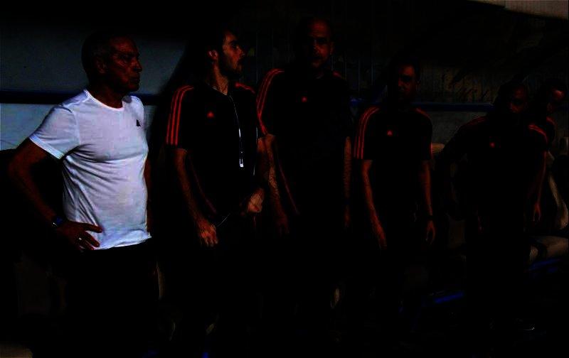 الشوط الأول من مباراة الزمالك وحرس الحدود (تصوير: سارة عبدالباقي)
