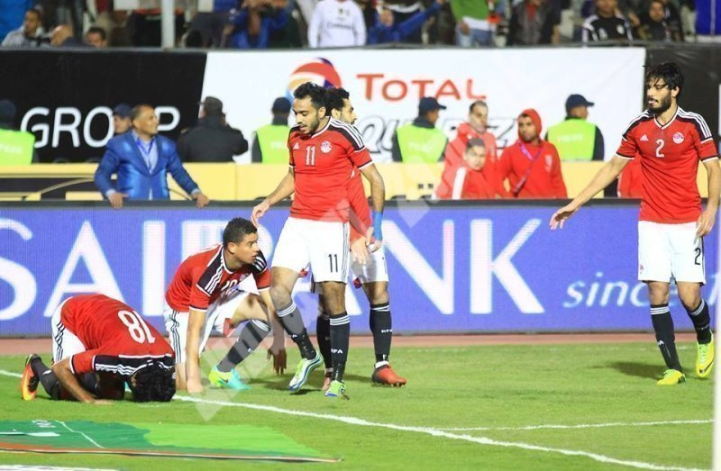 مصر 1 ـ 0 تونس (ودي) [تصوير: سارة عبد الباقي]