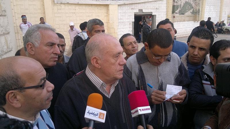 وصول المستشار جلال ابراهيم لتسليم مفاتيح النادي لمجلس عباس