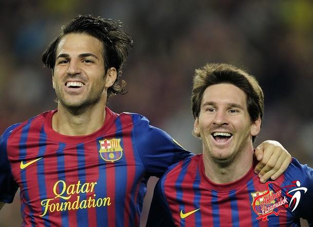 برشلونة يسحق اوساسونا برباعية سيسك وميسي في كأس ملك اسبانيا