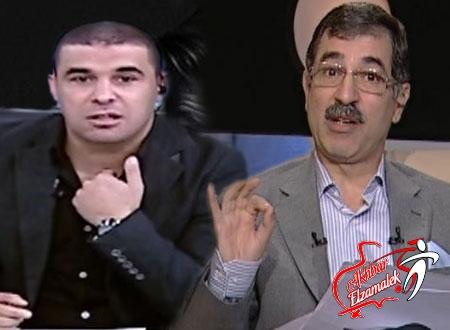 فيديو .. الغندور يغسل صادق على الهواء ويسأله : شوف ألفاظك الاول .. وليه مشيت من مودرن سبورت؟!!