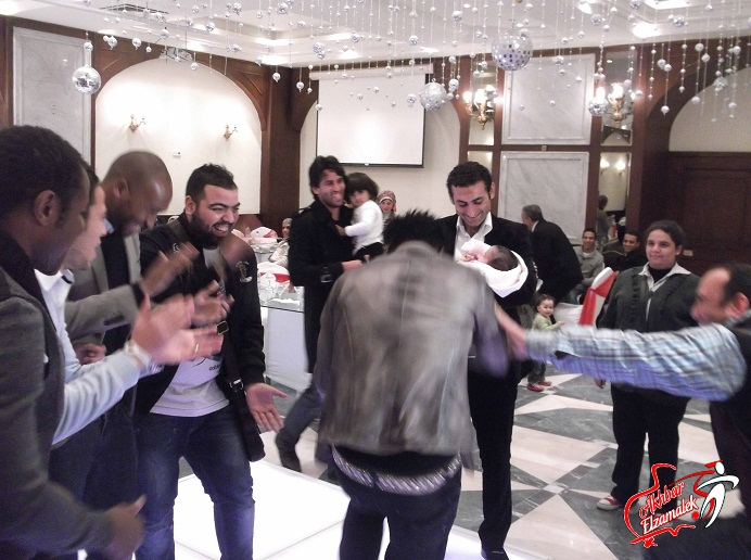 "حصرياً بالفيديو : شاهد رزاق يرقص مع ""كندة"" سمير .. وشيكابالا يداعبه"