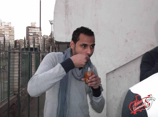 شاهد بالصور الحصرية : حمص الشام يغزو تدريبات الزمالك .. وترحيب بموندومو