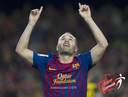إنييستا يعادل رقم جوارديولا في عدد المباريات مع البرسا