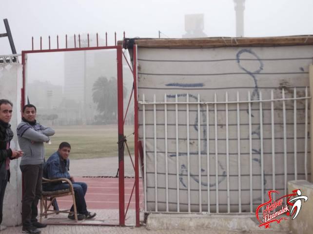 شاهد بالصور الحصرية .. فراشة صوان المعلم لمنع الصحفيين من متابعة التدريبات