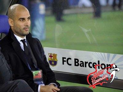برشلونة يسعى للاسراع بالتجديد لجوارديولا لتحفيز اللاعبين