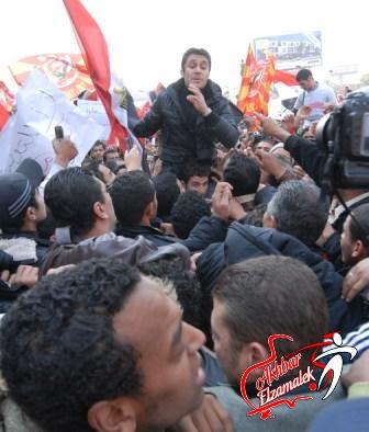 خاص.. الصقر وسمير يتوجهان الي ميدان سفنكس لقيادة المسيرة الي النادي الأهلي