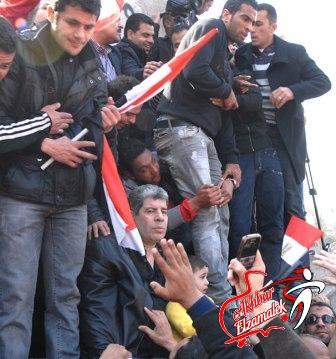 شاهد بالصور.. الصقر وشوبير يقودان مسيرة الرياضيين المنددة لاحداث بورسعيد