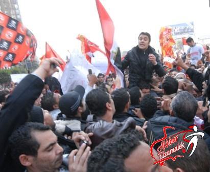خاص.. نجوم الزمالك يشاركون في مسيرة سفنكس احتجاجا على احداث بورسعيد