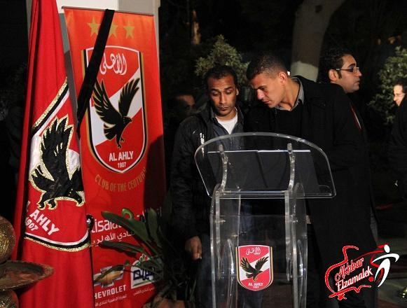 شاهد بالصور الحصرية .. عبدالواحد السيد فى عزاء ضحايا مذبحة بورسعيد
