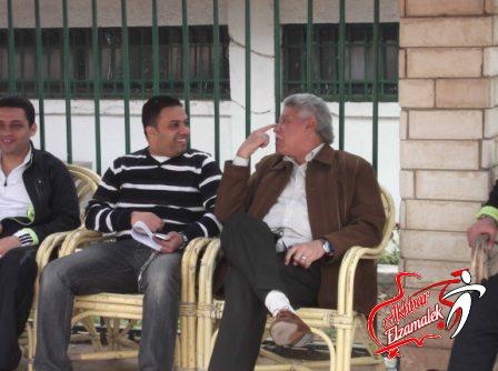 شاهد بالصور الحصرية : كواليس أول مران للزمالك بعد مذبحة بورسعيد .. وهزار المعلم مع شقيق توفيق