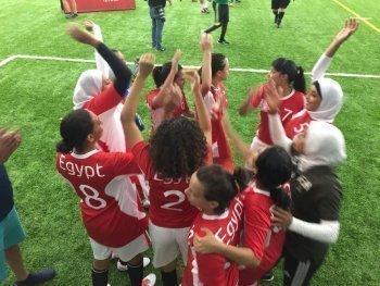بالصور بنات مصر يحصلوا على برونزية كاس العالم لكرة القدم الموحدة في شيكاغو