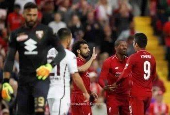 صلاح يقود ليفربول للفوز على تورينو  استعدادا للموسم الجديد
