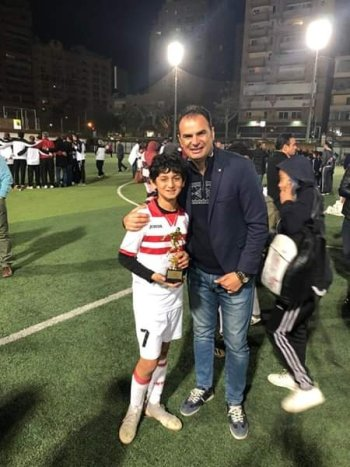 تكريم محمد  هيثم  احسن لاعب فى دورة الصيد وبراعم الزمالك تواصل الانتصارات