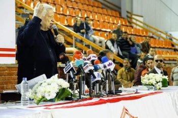 """تعرف على  تفاصيل جلسة مرتضى منصور  مع لاعبى الزمالك تركي الشيخ """" بينكافنى """""""