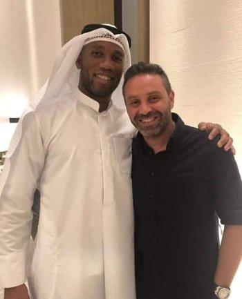 بالصور .  تعليق دروجبا على حازم إمام بعد الهزيمة فى الكويت