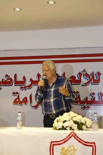 3  رسائل نارية من مرتضى منصور للاعبى الزمالك ويؤكد حفنى اعظم لاعب انجبته  الكرة المصرية