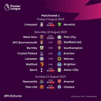 تعرف على مباريات الجولة الأولى من الدوري الانجليزي