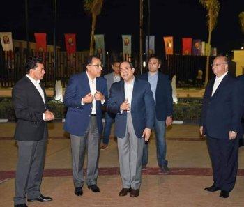 بالصور ..السيسى يزور ستاد القاهرة وشاهد الملعب الجديد