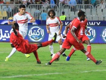 ديكا داها الصومالي يحرج الزمالك فى نهاية الشوط الاول وتسجيل الهدف الثاني