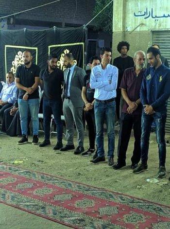 بالصور.. نجوم الزمالك بقيادة ابو رجيلة وسعد وشيكا فى عزاء علاء على