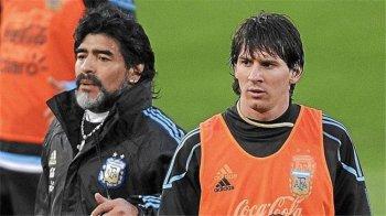 نجل مارادونا يرفض مقارنته بميسي