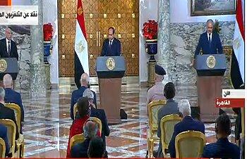 تفاصيل جلسة مباحثات الرئيس السيسي لحل ازمة ليببا ووقف إطلاق النار